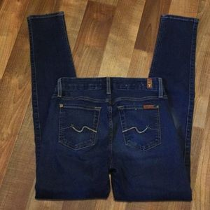 7 for all mankind the skinny jeans size 24